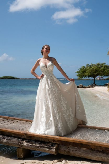 10040-K2 Organza+Tulle+Lace