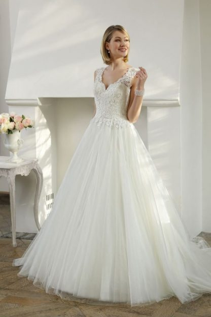 20074-B6 Satin+Tulle+Lace
