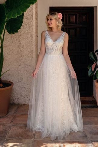 20091-D6 Satin+Tulle+Lace