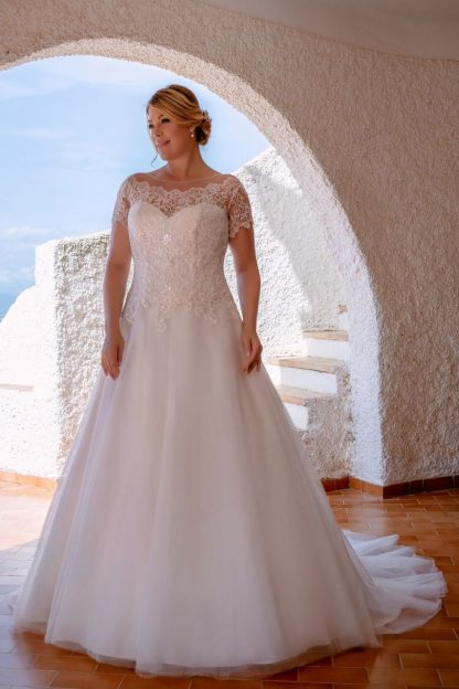 20126W-D6 Satin+Tulle+Lace