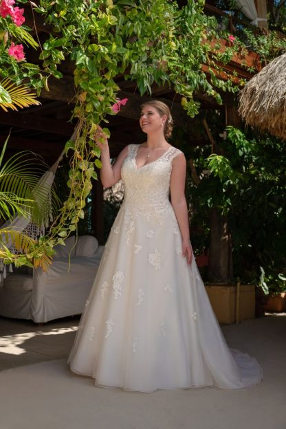 30007W-D7 Organza+Tulle