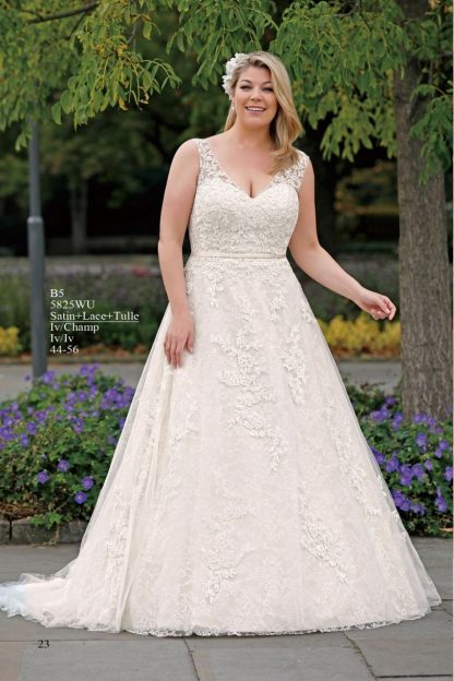 5825WU-B6 Satin+Lace+Tulle