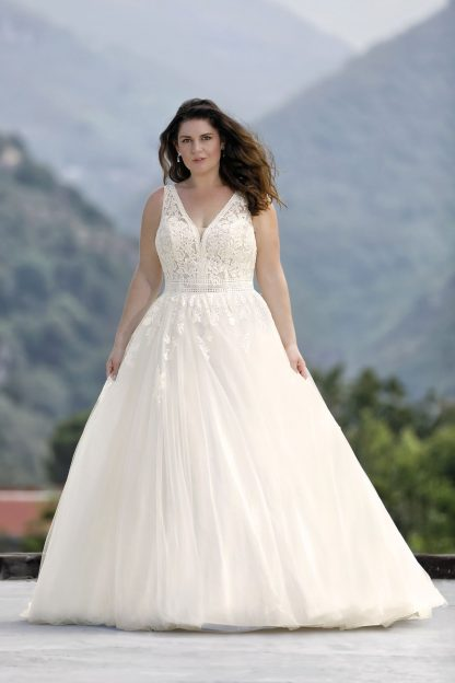 30026W-D8 Tulle+Shining tulle