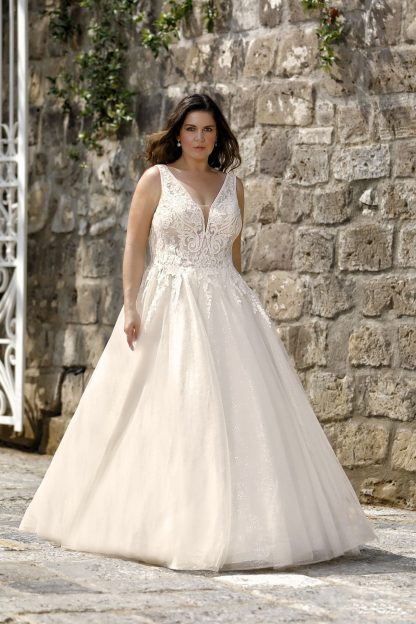 30030W-D8 Tulle+Shining tulle