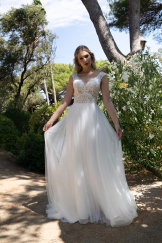 40044-D12-SY Tulle+Lace